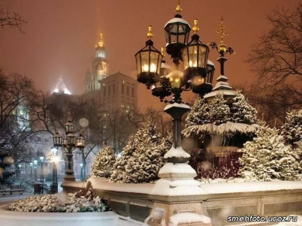 зима в городе красивые картинки